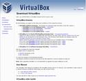 VirtualBoxダウンロードページ